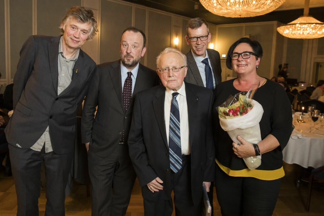 F.v.: Årets meningsbærer(e) Anders Giæver og Frithjof Jacobsen fra VG-podkasten
