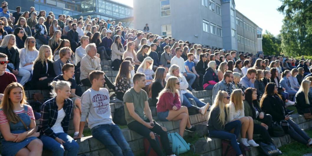 Fra studiestart på Høgskolen i Innlandet. Foto: Ketil Blom Haugstulen