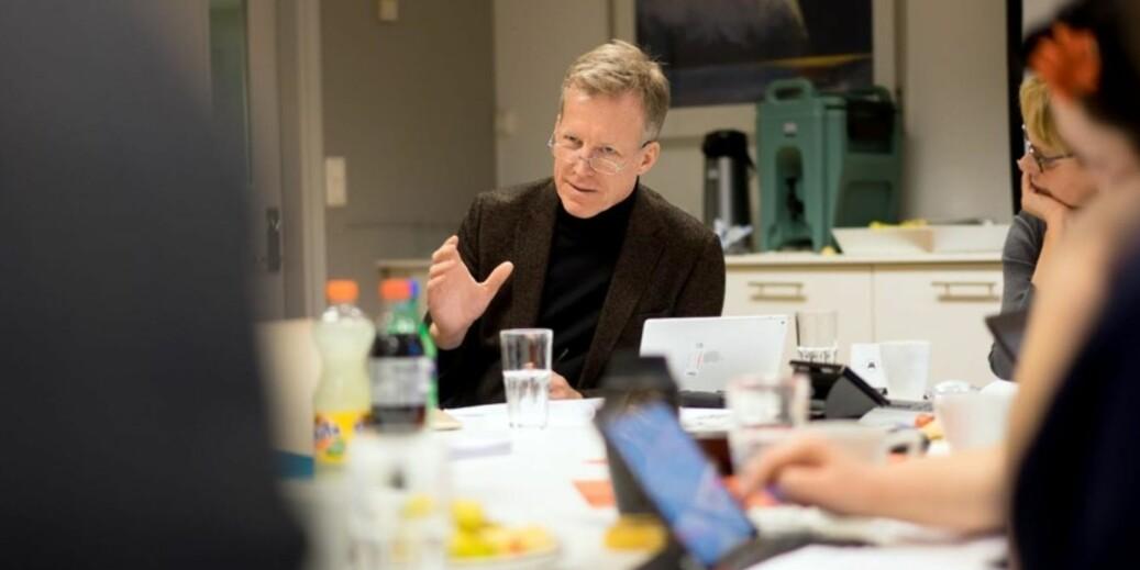 Curt Rice søker seg til fire nye år som toppsjef på OsloMet. Foto: Skjalg Bøhmer Vold
