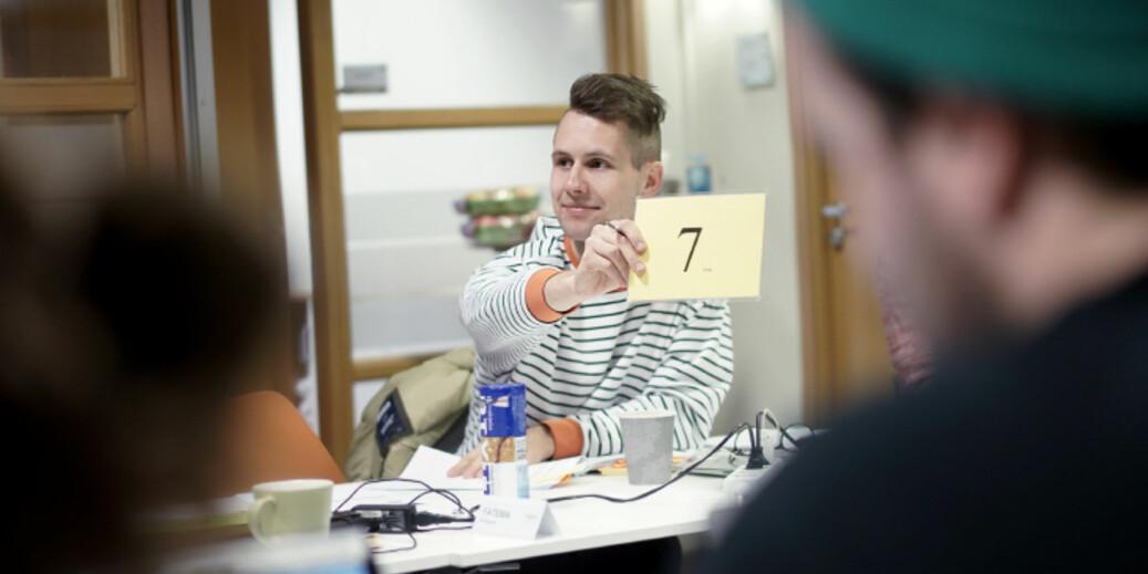 NSO-lederkandidat Kai Steffen Østensen mener tiden er moden for å diskutere hva NSO skal legge i Studentkravet. Foto: Ketil Blom Haugstulen
