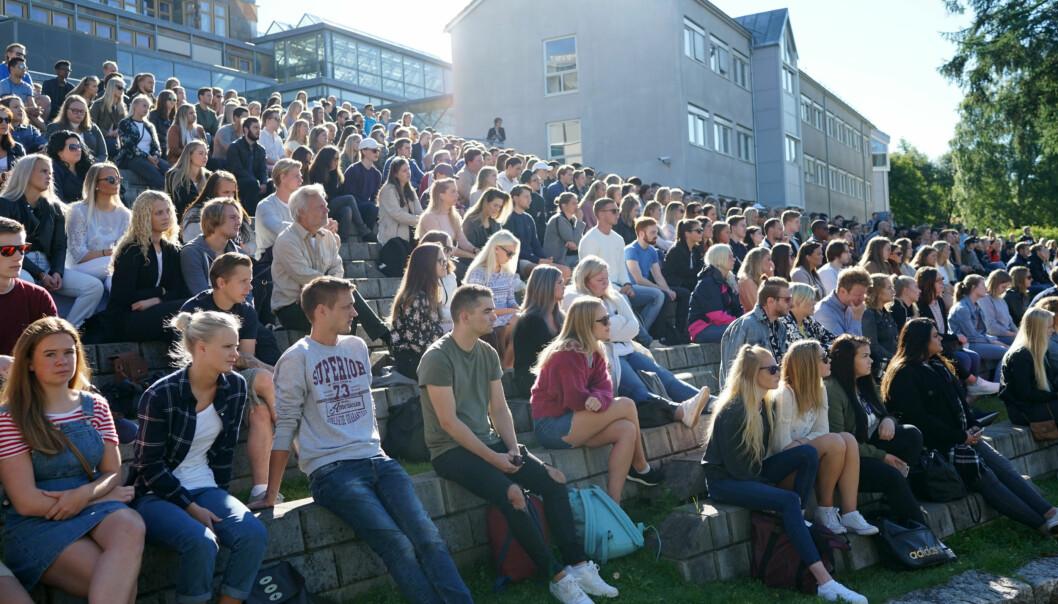 Studiestart på Høgskolen i Innlandet, studiested Lillehammer. Foto: Ketil Blom Haugstulen