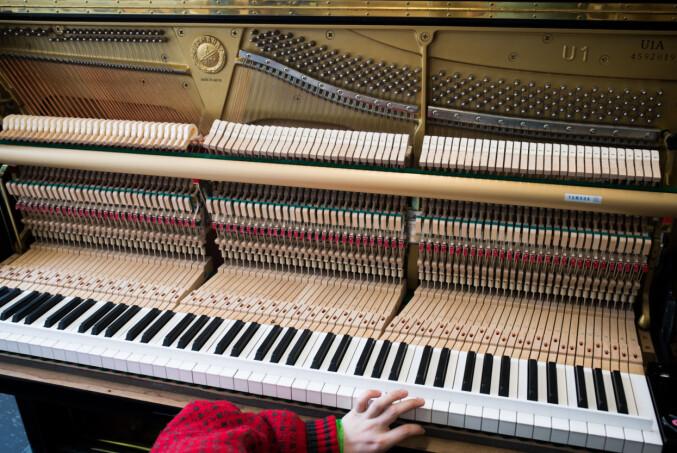 Det er variasjon i studentene som går på pianostemmerlinja. Noen har musikkutdanning fra før av, mens andre kommer rett fra videregående. Foto: Skjalg Bøhmer Vold
