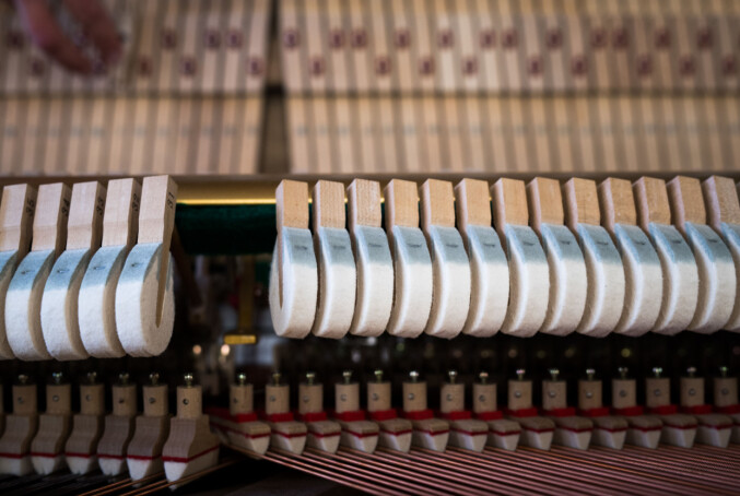 Man trenger ikke være musikker for å stemme et piano. Men man bør være kjent med en skrutrekker, sier Bakke. Foto: Skjalg Bøhmer Vold