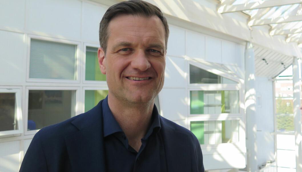 Jørgen Fossland (47) er nå ansatt som direktør ved UiT Norges arktiske universitet i et åremål på seks år. Foto: Randi Solhaug/UiT