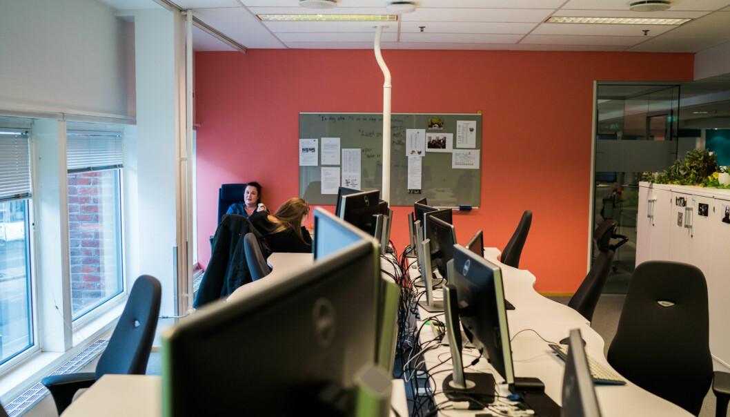 Åpent kontorlandskap på OsloMet. Arkivfoto: David Engmo