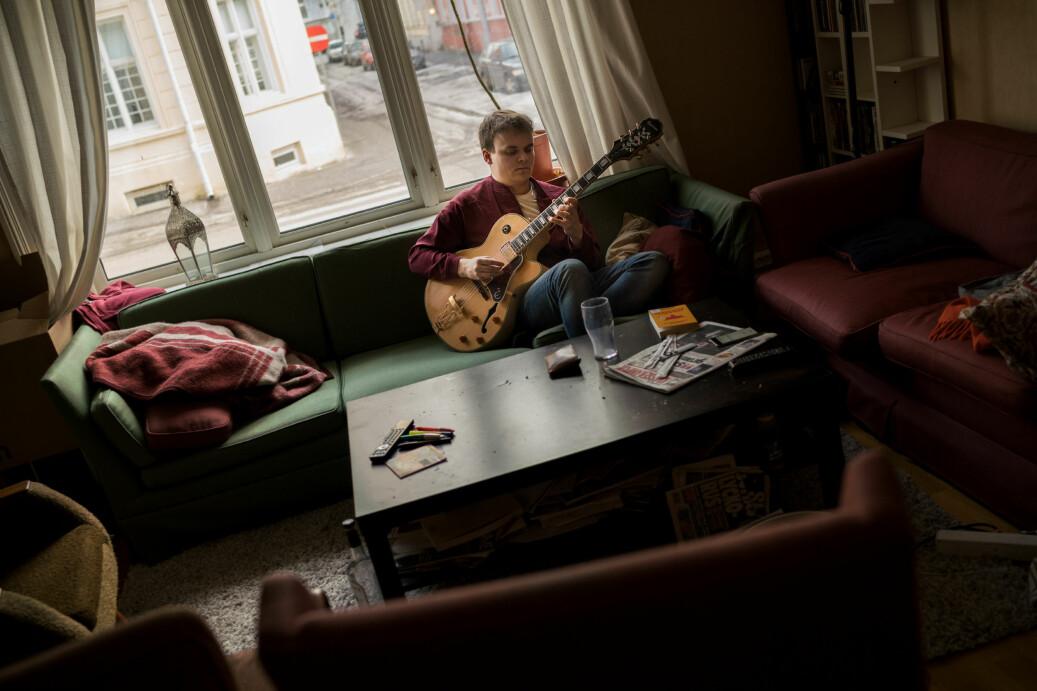 I et kollektiv på Majorstua i Oslo, bor Per Alexander Fossheim Johansen. Foto: Ketil Blom Haugstulen