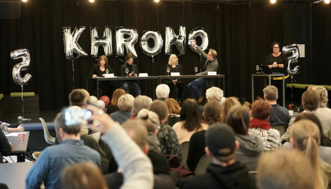 Torsdag feiret Khrono fem år, med debatt om ytringsfrihet og ytringsmot i akademia. Foto: Ketil Blom Haugstulen
