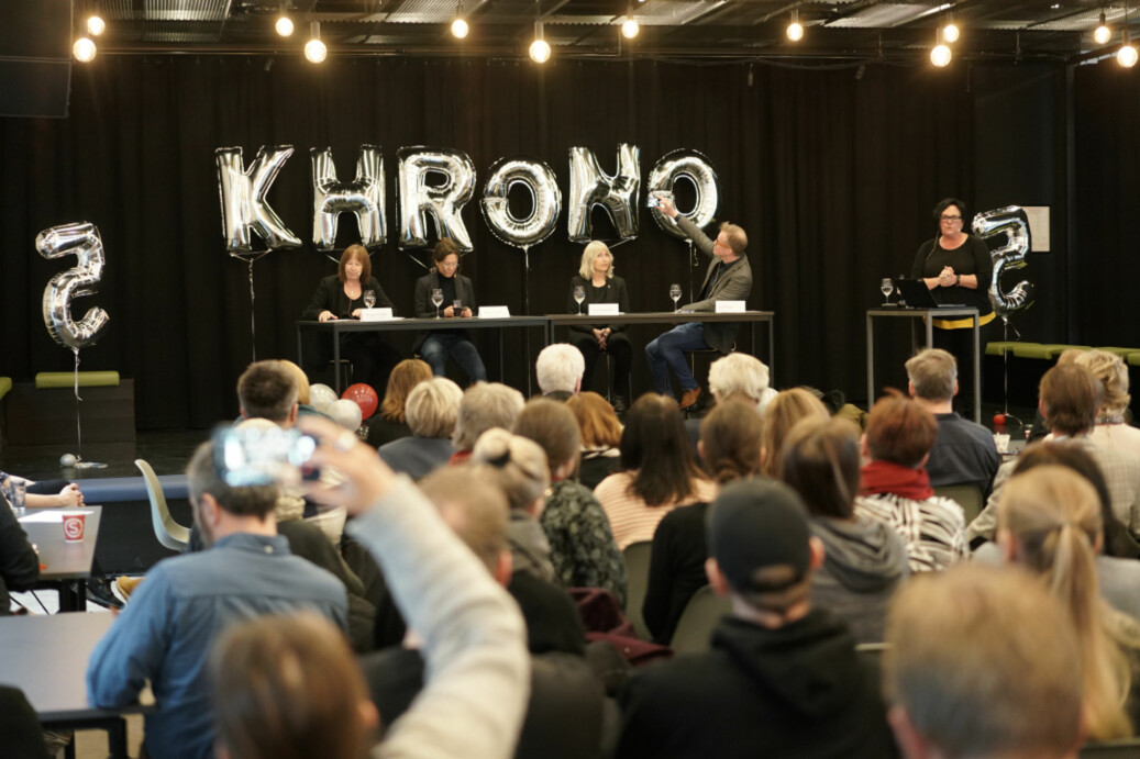 Khrono feiret fem år torsdag 5. april. Foto: Ketil Blom Haugstulen