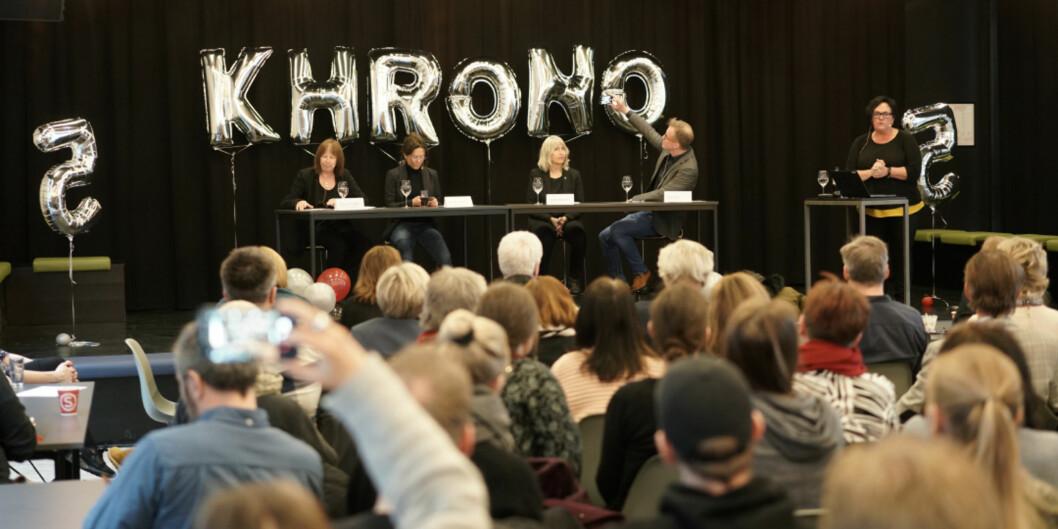 Khrono feiret sin femårsdag i april. 2018 ble nok et rekordår for Khrono for femte år av fem mulige. Foto: Ketil Blom Haugstulen