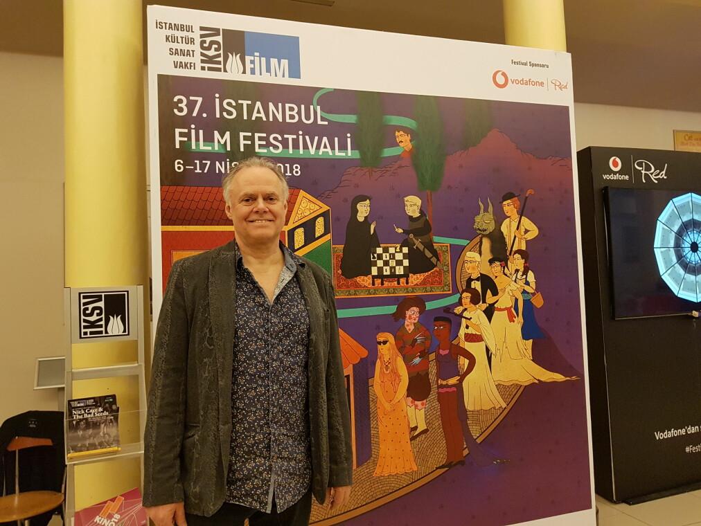 Khronos flmanmelder, jan Storø, på plass i Istanbul.