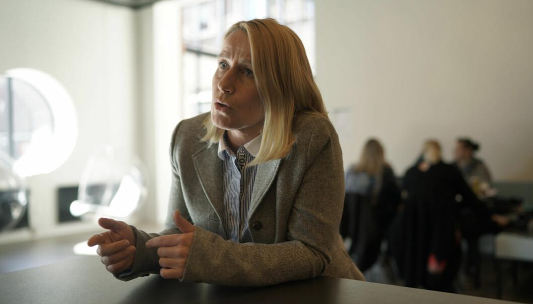 Marianne Synnes Emblemsvåg, Høyre, mener man må gjøre noe med situasjonen der en tredjedel av studentene verken møter opp til studieplassen sin eller ikke svarer på det tilbudet de får. Foto: Ketil Blom Haugstulen