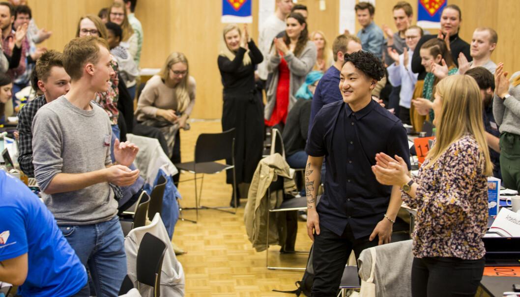 Valget er gjort: På helgens landsmøte ble Frank Aleksander Bræin valgt til ny leder for Pedagogstudentene. Foto: Andreas Solbakken/Oclin