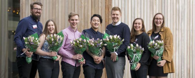 Den nye ledelsen for Pedagogstudentene. Foto: Andreas Solbakken/Oclin