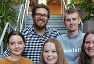 Notert: Ny ledelse av studentparlamentet i Ålesund