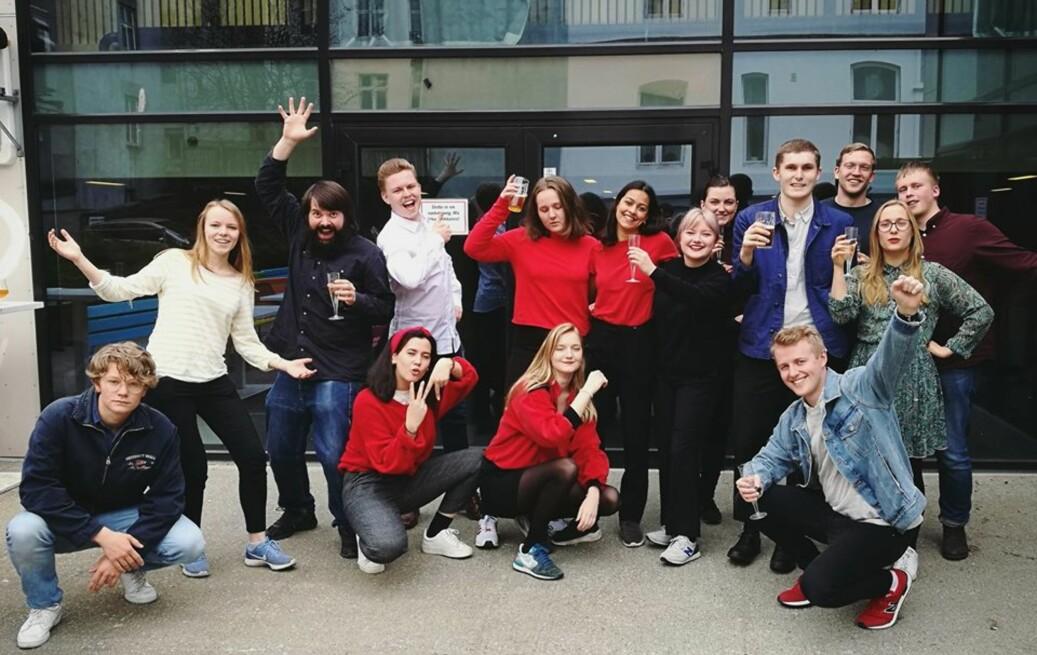 Sju av medlemmene til Venstrealliansen på Universitetet i Bergen kom inn i parlamentet. Foto: Privat