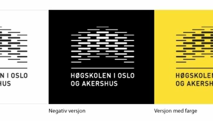 Dette er den gamle logoen til Høgskolen i Oslo og Akershus, nå OsloMet