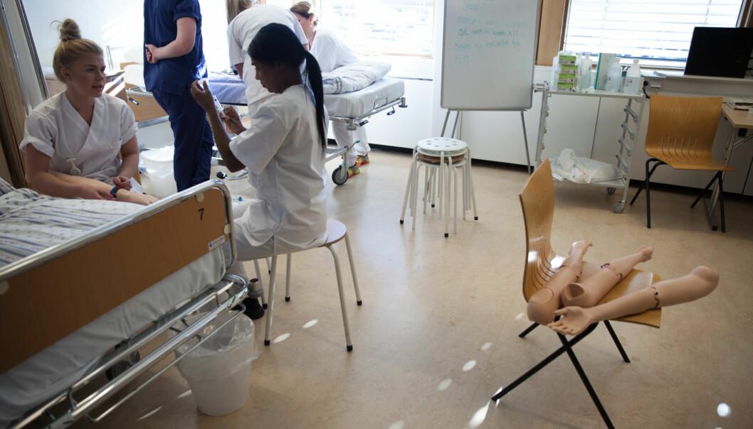 Ledelsen ved Fakultet for helsevitenskap på OsloMet understreker behovet for samarbeid mellom utdanningene innen helse og sosialfag. Foto: Mina Ræge