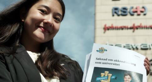 University Inc. søker akkreditering om å bli universitet