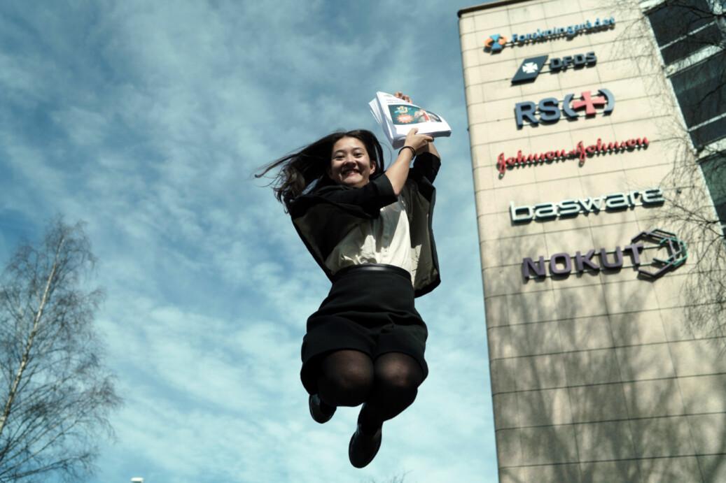 SAIH-leder Beathe Øgård fikk avslag på søknaden om universitetsstatus for University Inc. direkte. Foto: Ketil Blom Haugstulen