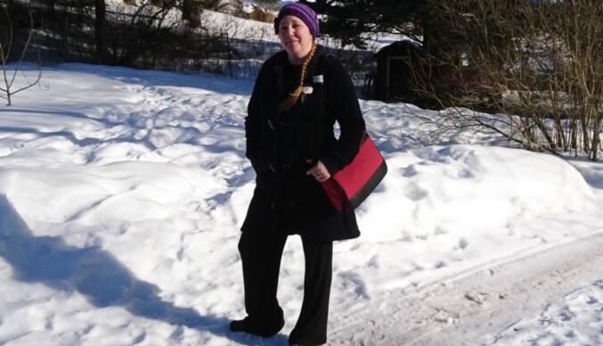 — Det er urettferdig at jeg allerede ved 45 år skal møte et hinder som tilsier at myndighetene ikke ser på meg som en vanlig ordentlig student, sier Camilla Sagen (44) som er student ved Høgskolen i Innlandet. Foto: Jade Sagen