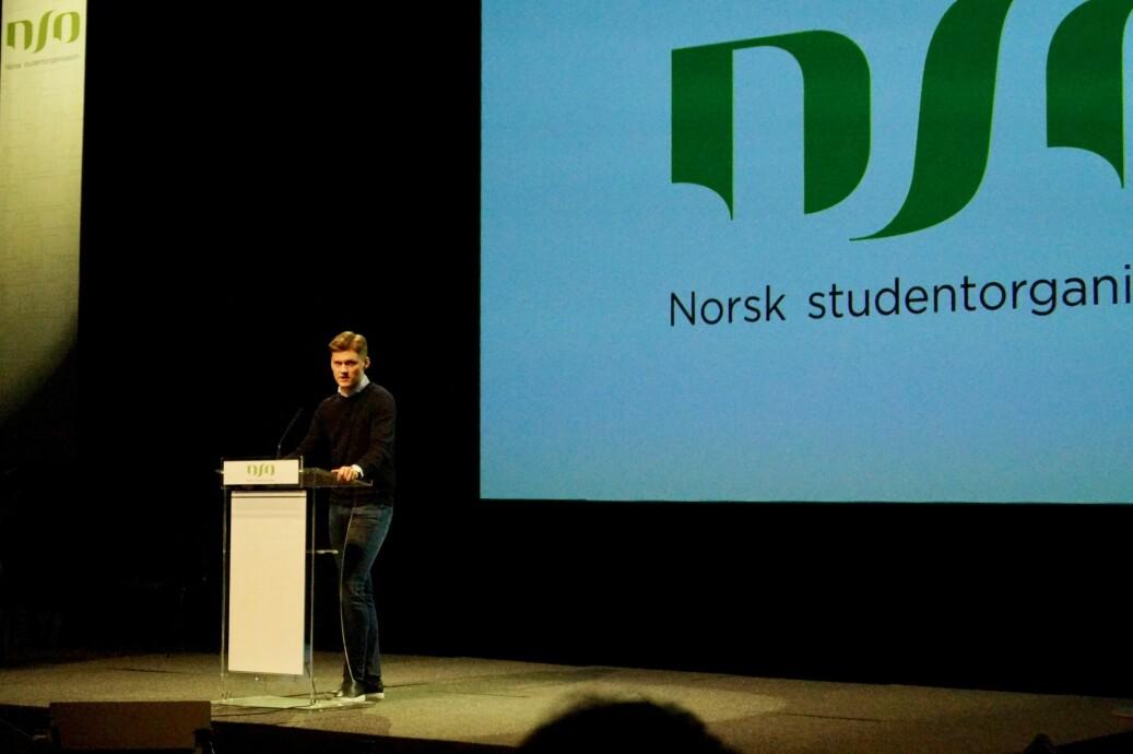 — Studietiden skal være den beste tiden i livet, sa NSO-leder Mats J. Beldo da han åpnet landsmøtet. Foto: Øystein Fimland