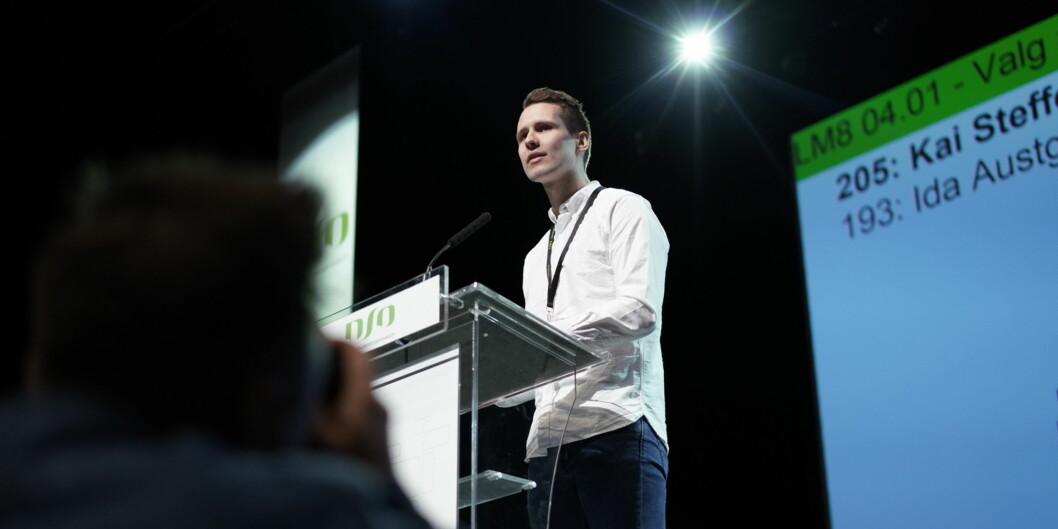 Våren 2018 stilte Kai Steffen Østensen til valg som leder av Norsk studentorganisasjon (NSO), og tapte.