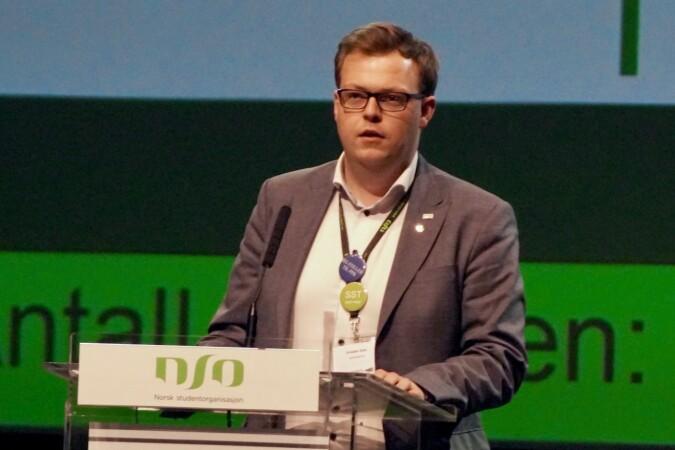 Kristian Hovd Sjøli ble valgt til leder av prinsipprogramkomitéen. Foto: Øystein Fimland