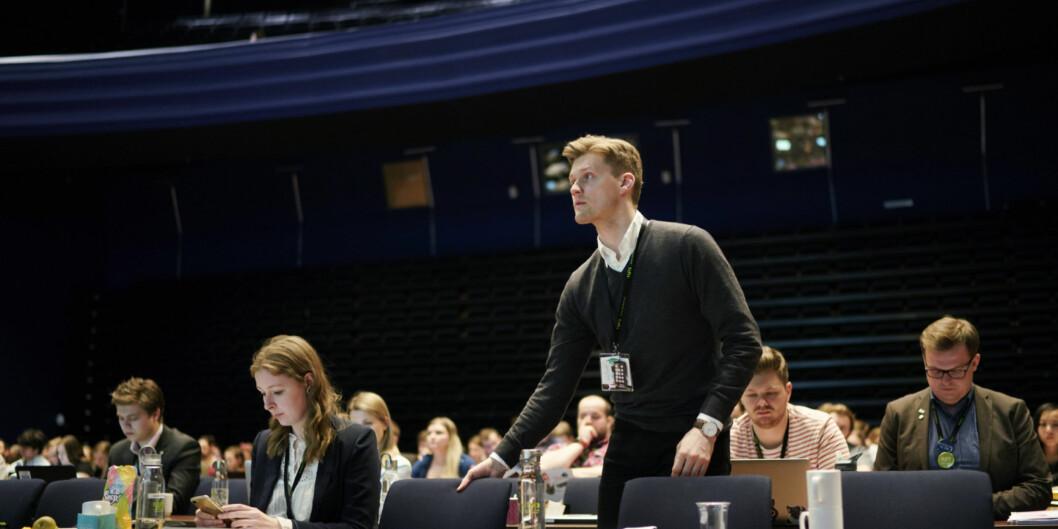 Norsk studentorganisasjon-leder Mats J. Beldo mener at studentenes læring svekkes av for lite digitalisering av undervisningen. Foto: Ketil Blom Haugstulen
