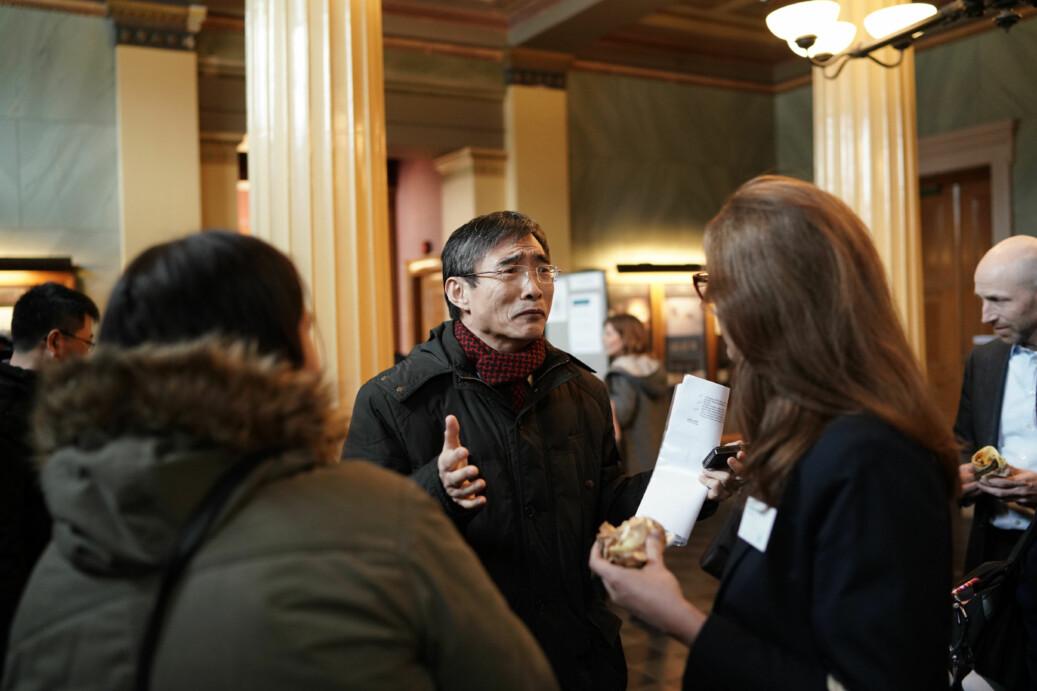 En delegasjon fra 33 kinesiske universiteter besøkte Norge i mars i år. Her fra besøket på UiO. Sist uke var nærmere 250 personer fra norske universiteter og høgskoler i Kina. Foto: Ketil Blom Haugstulen
