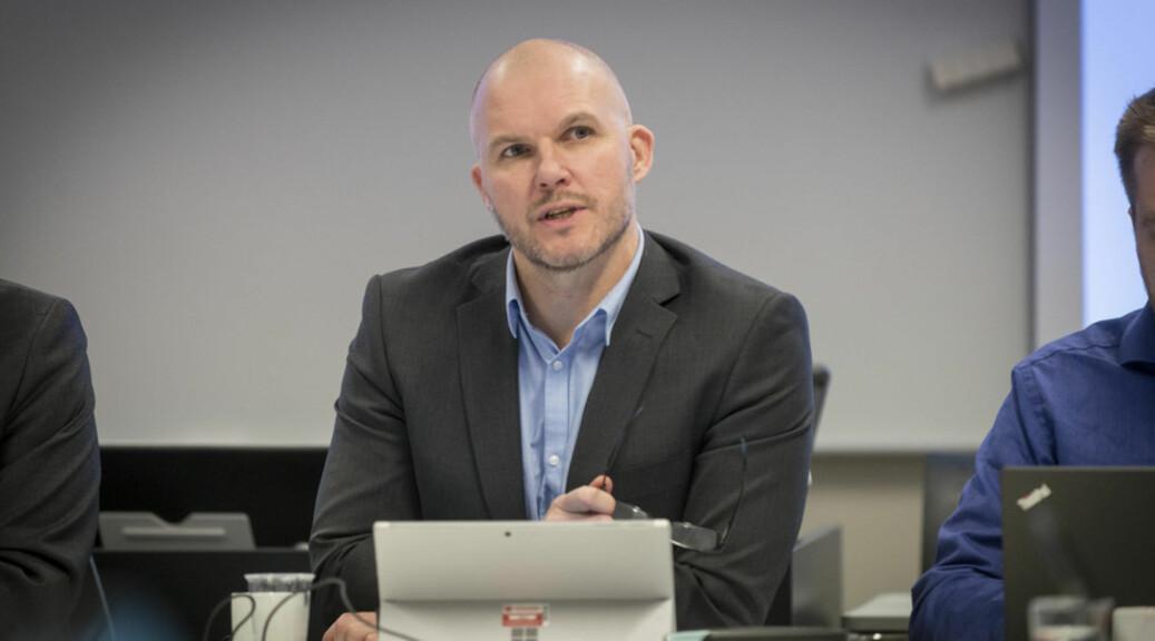 Tage Båtsvik, direktør på Høgskulen på Vestlandet er nøgd med søkjarane. Foto: Tor Fastad