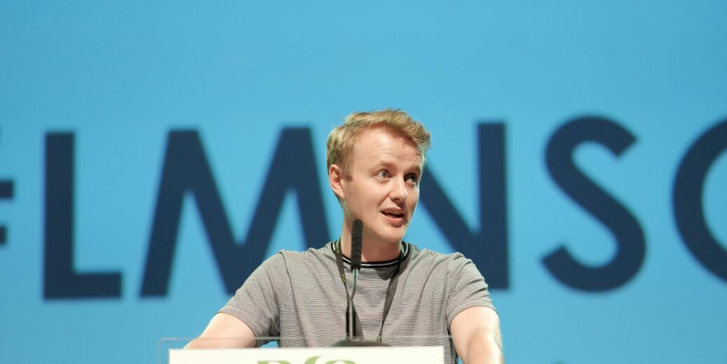Leder i NSO Håkon Randgaard Mikaelsen. Foto: Ketil Blom Haugstulen