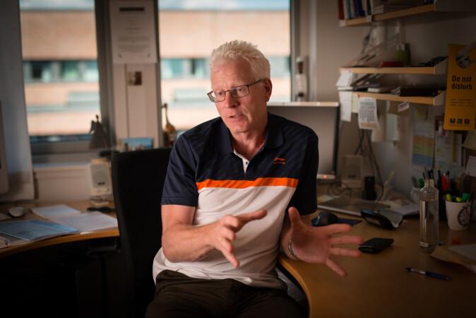 John Olav Bjørnstad er hovedtillitsvalgt i Forskerforbundet ved Universitetet i Agder. Foto: Skjalg Bøhmer Vold