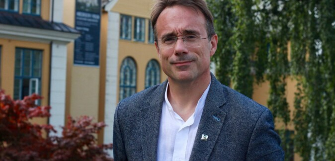 Rektor ved Høgskulen i Volda, Johann Roppen. Foto: Peikestokken/Veronica Turnage