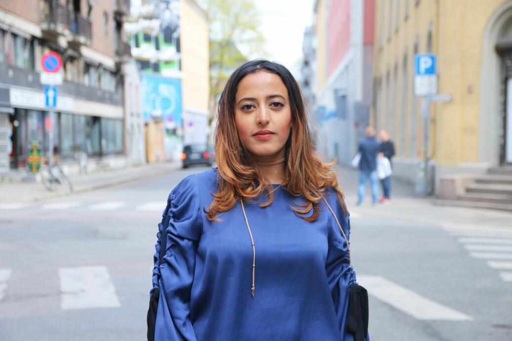 Fasiha Hassan var en av initiativtakerne til #FeesMustFall-kampanjen mot skolepenger i Sør-Afrika. Foto: Sverre Ø. Eikill/SAIH