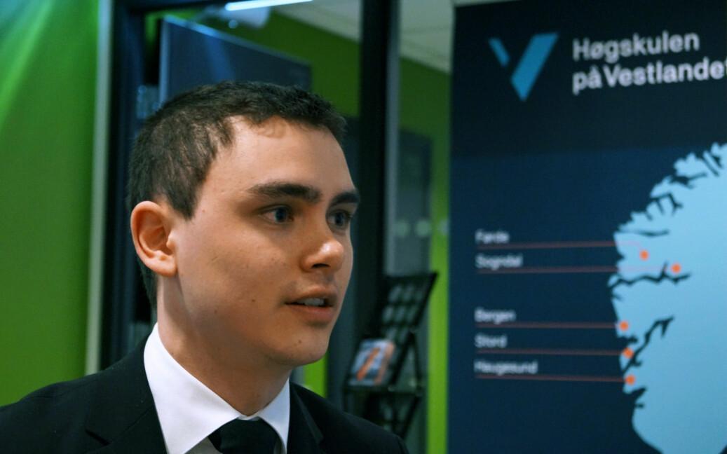 Parlamentsleder Jonas Oliver Hui Dahl ønsker mer mangfold i studentpolitikken. Foto: Brage Lie Jor