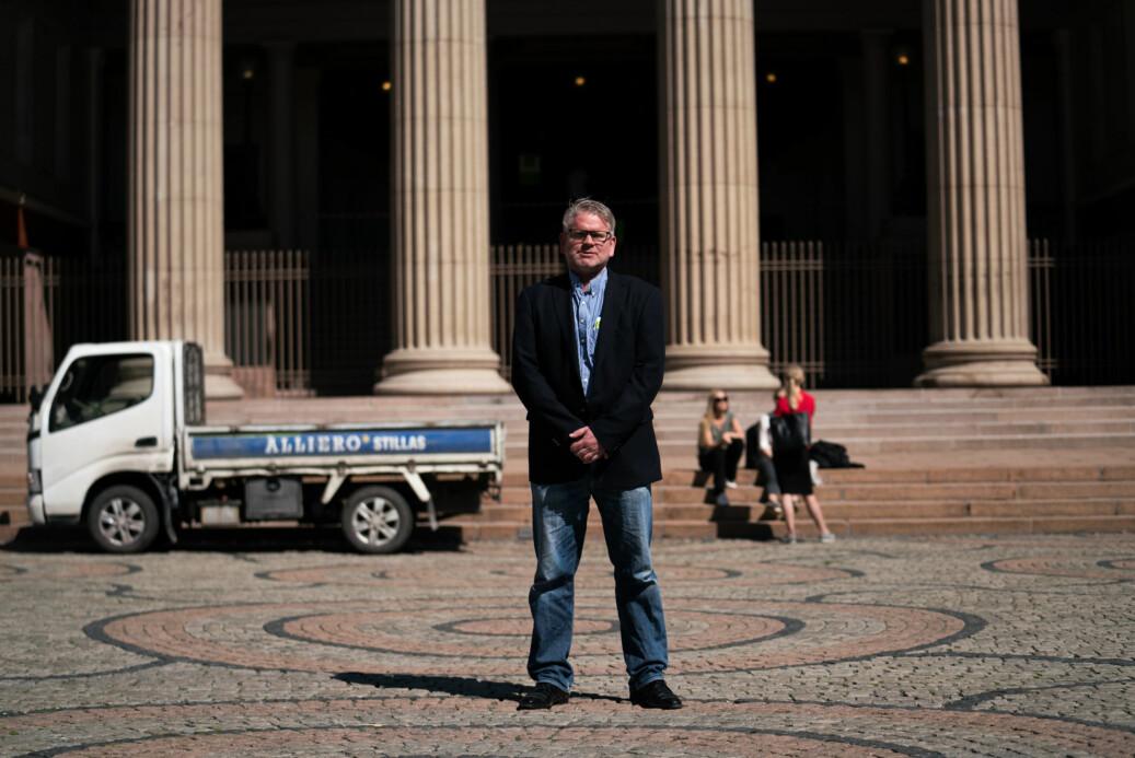 Det er urealistiske forventninger hos juss-studentene om hvilke resultater de kan oppnå, mener studiedekan Erling Hjelmeng ved Det juridiske fakultet i Oslo. Foto: David Engmo