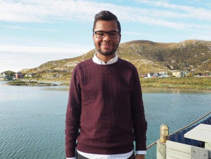 Patrick Oware, studentleder jusstudenter, Tromsø. Foto: Privat