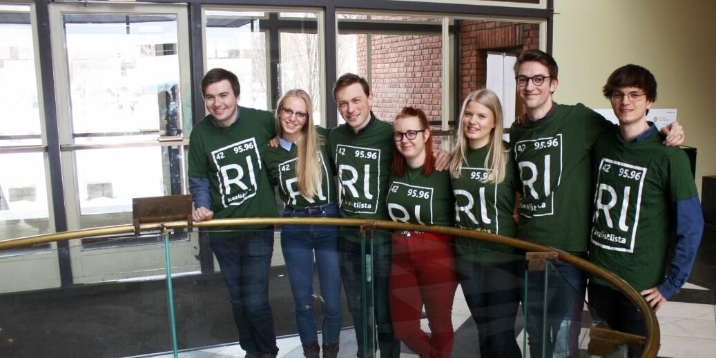 Realistlista stiller til valg i Studentparlamentet ved Universitetet i Oslo. Foto: Studentparlamentet