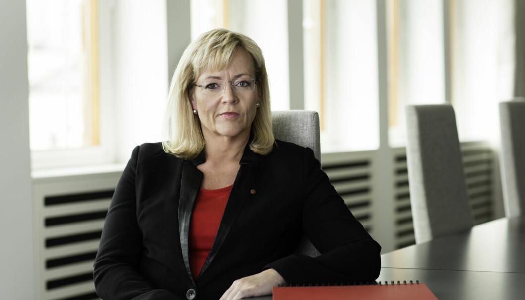 LO-sekretær Trude Tinnlund er blant de som er kritiske til foretaksmodellen ved universiteter og høgskoler. Foto: Trond Isaksen/LO