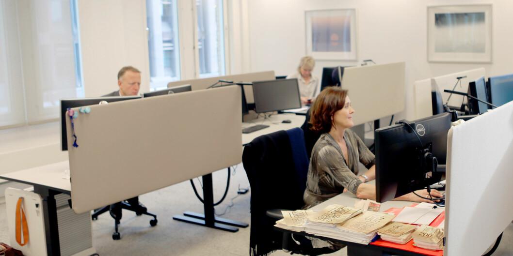 Ledelsen i Statsbygg sitter selv i åpent landskap. Foto: Trond Isaksen, Statsbygg