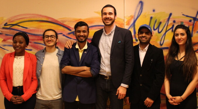 ISU also elected a new national board, consisting of Michael Agbamoro as chair (not pictured), Lindah Chido as vice chair (on the left), Rayan Elzibawi as treasurer (to the right) and Muhammad Saeed Akram as political auditor (second from the right). Photo: ISU