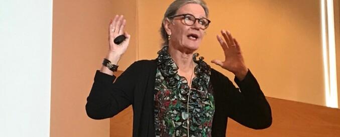 Professor Elsa Amås ved Universitetet i Agder maner til seksuell folkeskikk. Foto: Tove Lie
