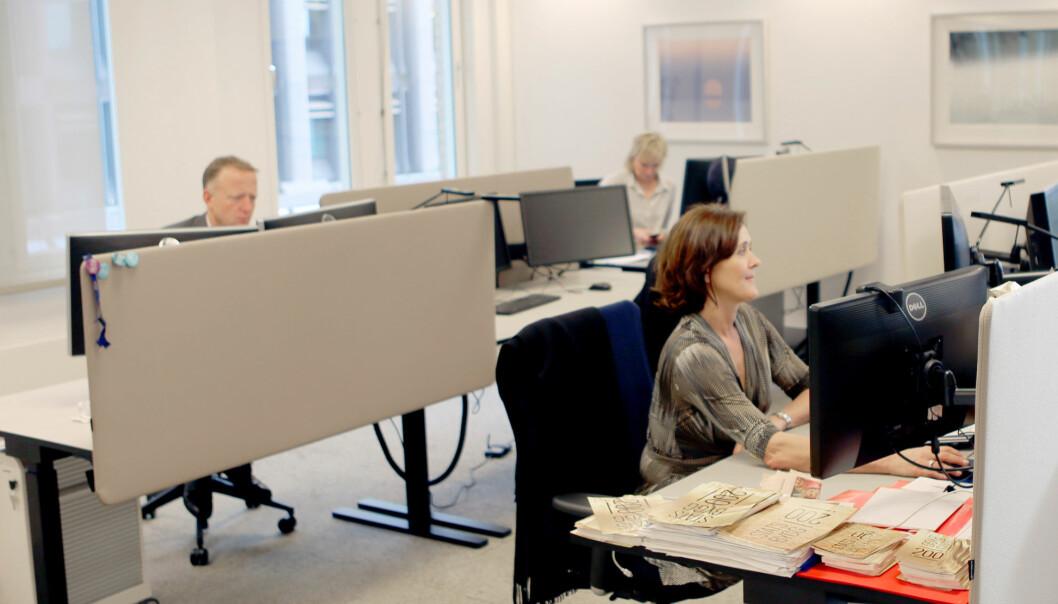 Ledergruppa i Statsbygg sitter i aktivitetsbasert kontrolandskap. Foto: Statsbygg