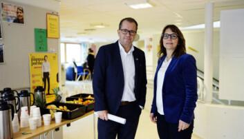 Rektor Bjørn Olsen og direktør Anita Eriksen ved Nord universitet. Foto: Ketil Blom Haugstulen