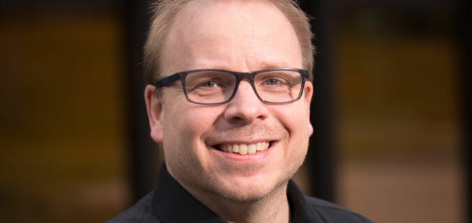 Dekan Morten Schjelderup Wensberg ved Fakultet for utøvende kunstfag ved Universitetet i Stavanger. Foto: Morten Berntsen