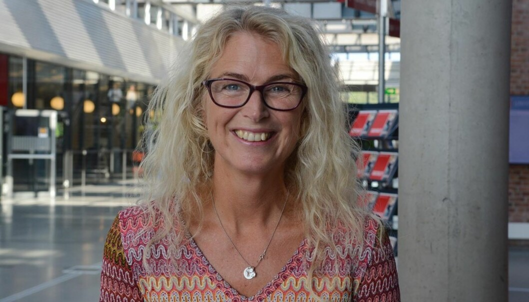 Dekan Marit Wergeland-Yates ved Fakultet for kunstfag ved Universitetet i Agder sier at hun forstår godt at frustrasjonen ved kunstfakultetet i Tromsø er stor. Foto: Tor Martin Lien/UiA