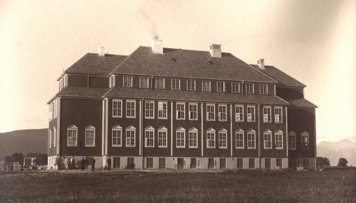 Lærerskolen i Nesna i 1920. Foto: Nord universitet / A. Andersen, Nesna