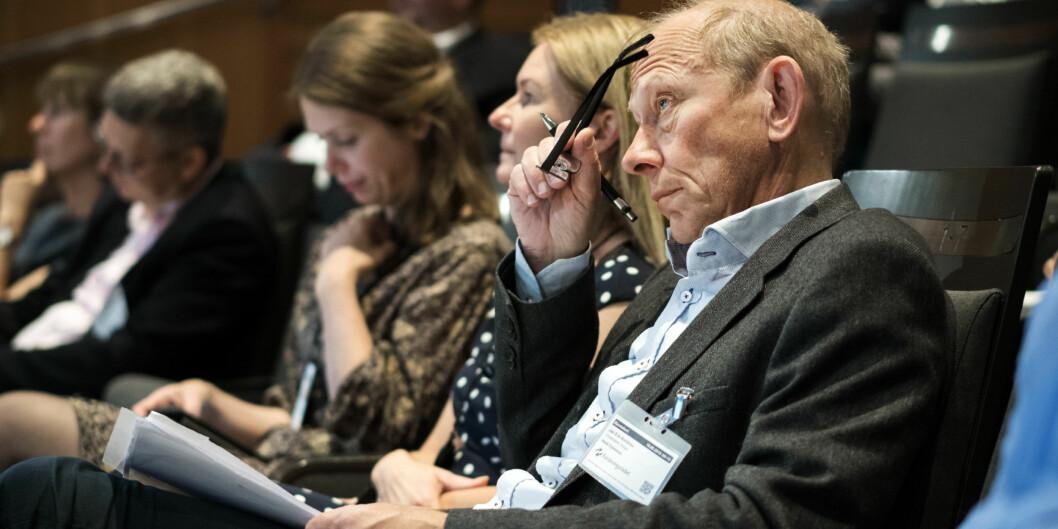 Dekan Jan Erik Askildsen ved Universitetet i Bergen, kommenterte sammen med Tanja Storsul, Forskningsrådets evaluering av samfunnsvitenskapelig forskning tidligere denne måneden. Foto: Ketil Blom Haugstulen