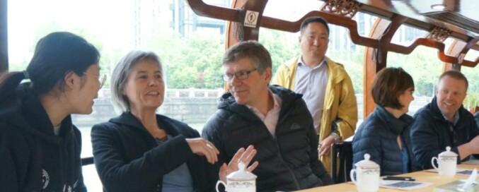 UiO reiste til Kina før den offisielle norske delegasjonen, og besøkte blant annet Zhejiang University i byen Hangzhou. Foto: UiO