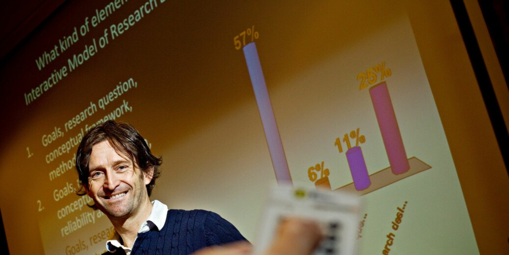 Rune Johan Krumsvik, professor i pedagogikk (dr.philos) er faglig leder for forskerskolen WNGER II med tilhold på Universitetet i Bergen. Foto: UiB